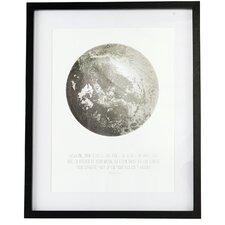 Everyday 2016 Illustration Moon Framed Graphic Art