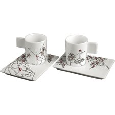 Origini Tradizioni 4 Piece Cup and Saucer Set