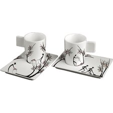 Origini 12 Piece Espresso Cup and Saucer Set