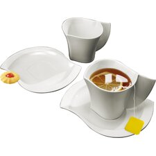 Ninfea Classica Espresso Cup and Saucer Set (Set of 2)