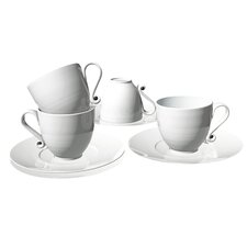 Trame 4 Piece Espresso Cup and Saucer Set