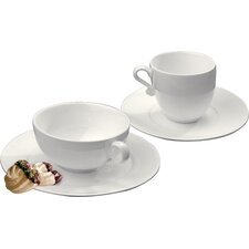 Trame 4 Piece Tea Cup and Saucer Set