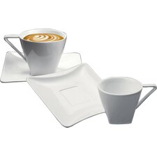 Iside Breakfast Cup and Saucer Set (Set of 2)