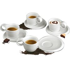 Ninfea Espresso Cup and Saucer Set (Set of 4)