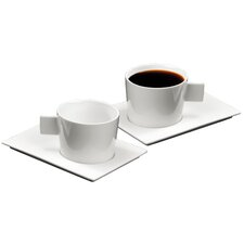 Geo American Coffee Cup and Saucer Set (Set of 2)