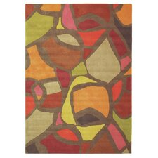 Xian Hand-Tufted Brown/Red Area Rug