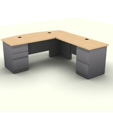 Executive Desk with Two Pedestals