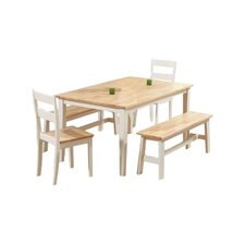 Beecher Falls Dining Table and 2 Chairs and 2 Benches