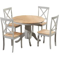 Belgrade Oak Dining Table and 4 Chairs