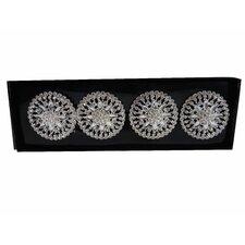Flower Strass Napkin Ring (Set of 4)