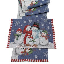 Snow Family Table Runner