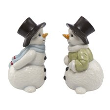Salz und Pfeffer-Set Schneemänner