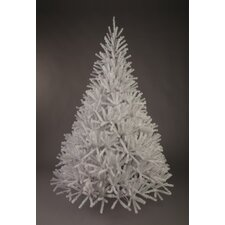 2.1m White Artificial Christmas Tree with Metal Stand