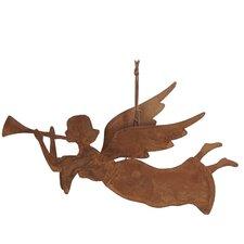 Rusty Angel Hanging Figurine