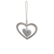Decorative Double Heart Tree Hanging Figurine