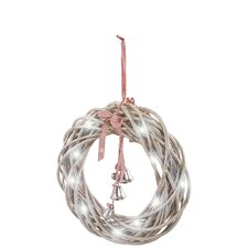 Xmas Wreath LED Hanging Figurine