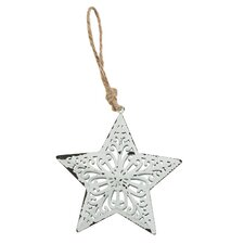 Metal Filigree Star Hanging Figurine