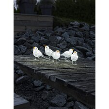 LED Acryl Vögel 5er-Set