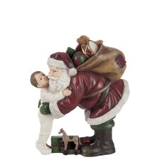 Santa Claus and Child Figurine