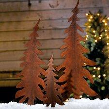 3 Piece Christmas Tree Garden Stake Set