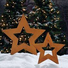2 Piece Stars Garden Stake Set