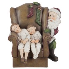 Weihnachtsschmuck Chair and Child and Santa Claus