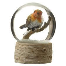 Snow Globe with Robin