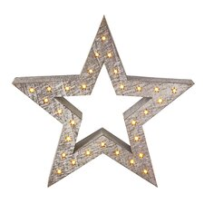 Wooden Star Decoration with LED