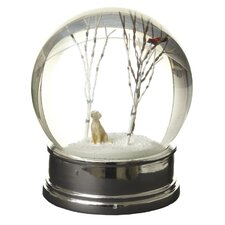 Winter Scene Dog Snow Globe