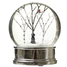 Snow Globe with Winter Scene Dog