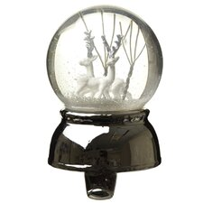 Snow Globe Stocking Hook with Reindeer