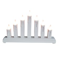 LED Wooden Candle Bridge 7 Light Lamp