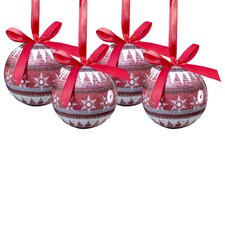 14 Piece Nordic Decoupage Ball Ornament Set (Set of 14)