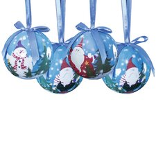 14 Piece Fun Decoupage Ball Ornament Set