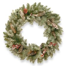 Delta 60.96cm; PVC Berry and Pine Wreath