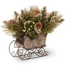 Glittery Bristle Pine Sleigh