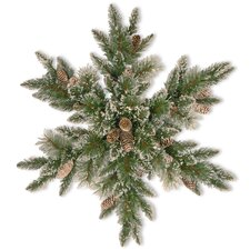 Sparkling Pine Snowflake with Cone