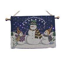 Fibre Optic Snowmen Tapestry