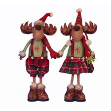 Standing Mr/Mrs Deer Figurine