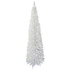 6' White Artificial Christmas Tree with 110 LED White