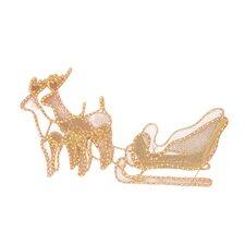 Two Reindeers and Sleigh Figurine