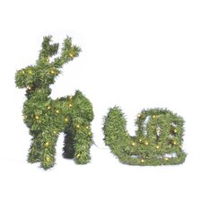 Reindeer/Sleigh LED Ornament