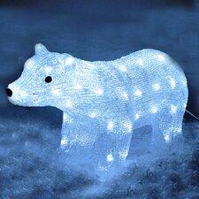 White LED Crystal Effect Polar Bear Lighted Display