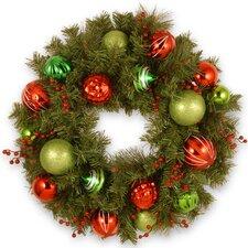 60cm; PVC Ornament Wreath