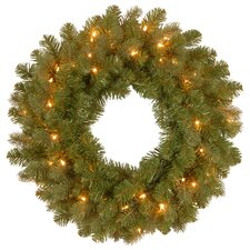 Downswept Douglas 60.96cm; Lighted PVC and PE Wreath