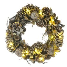 15cm; Lighted Wreath