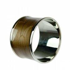 Brass and Enamel Napkin Ring (Set of 6)