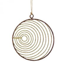 Glittered Wire Ball Ornament (Set of 6)