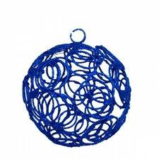 Glittered Filligree Ball Ornament (Set of 6)
