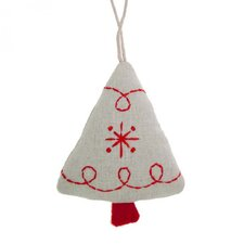 Fabric Tree Hanging Figurine (Set of 6)